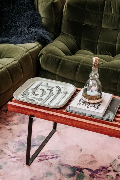coffee table and tray